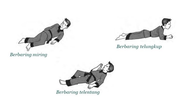 teknik dasar pencak silat - sikap berbaring